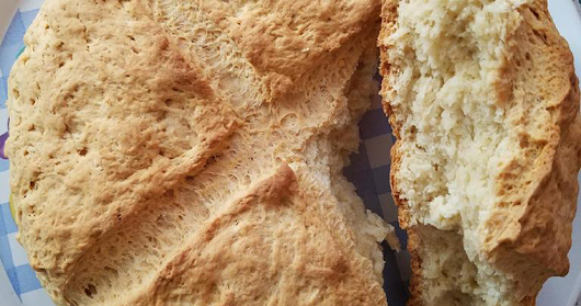 Albanian Soda Bread (Albanian Kulac) - Mimis Recipes