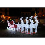 Northlight Commercial Size Reindeer and Sleigh Lighted Christmas Figurine