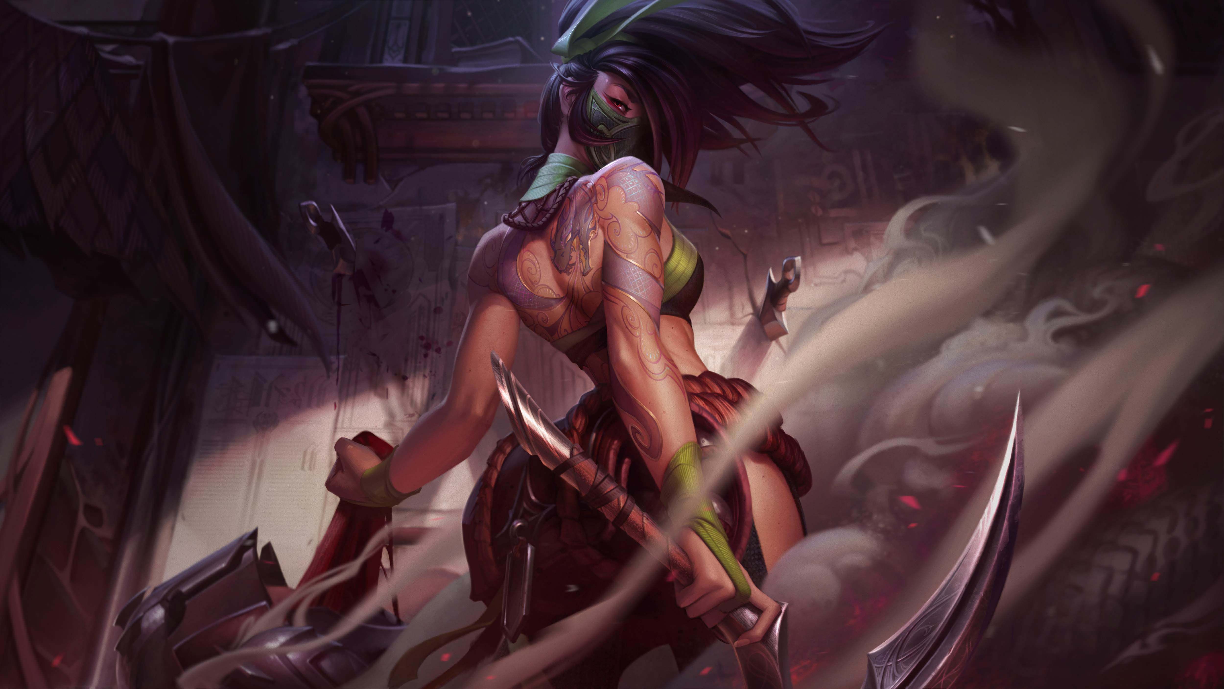 Classic Akali Update Wallpapers Fan Arts League Of Legends