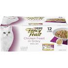 Fancy Feast Gourmet Grilled Cat Food, Chicken Feast in Gravy - 12 cans, 3 oz each