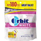 Orbit White Sugarfree Gum, Bubblemint - 180 count, 8.8 oz pouch