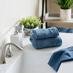 Welspun 4-piece Organic Hand & Washcloth Towel Set, Blue