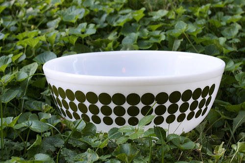 Green Dot Bowl by jenib320