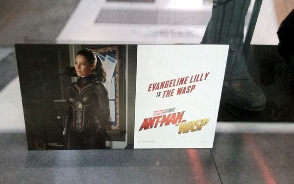 The Wasp costume worn by Evangeline Lilly in ANT-MAN AND THE WASP...on display in Hollywood on July 8, 2018.