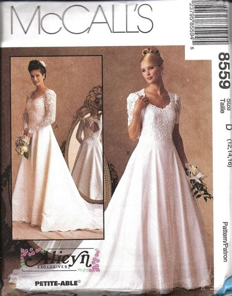 uncut vintage mccalls sewing pattern misses wedding