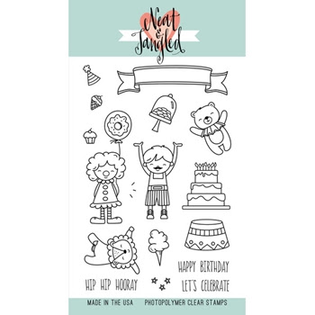 Neat and Tangled BIG TOP BIRTHDAY Clear Stamp Set