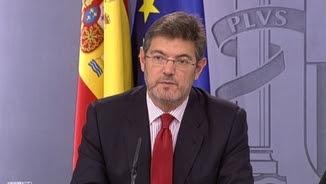 El ministre Rafael Catalá, durant la roda de presa del Consell de Ministres