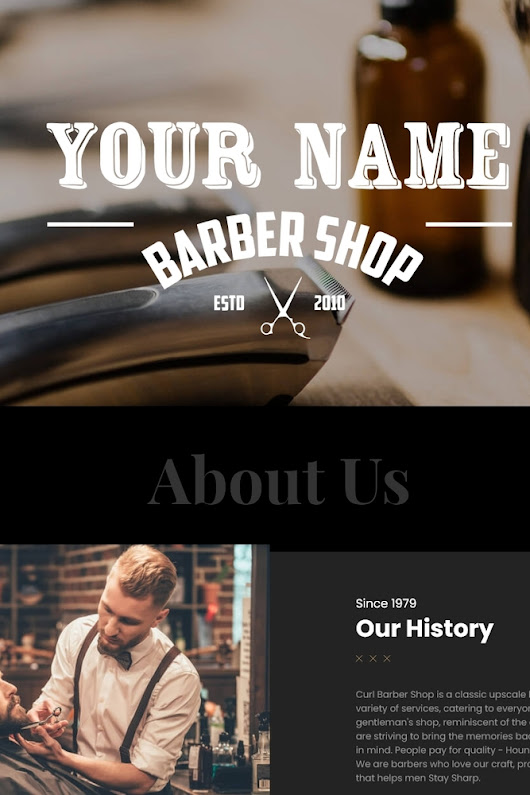 Curl - Stylish Barber Shop Joomla Template - w3design.mobi