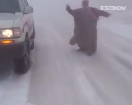 Χιόνια στη Σαουδική Αραβία; Δεν είναι ανέκδοτο! [vid]