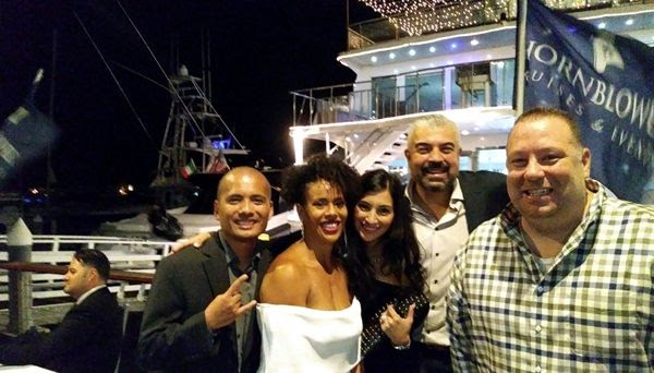 Camille, Nisha, her husband Hector, Justyn and I pose for a group photo after we disembarked from the Endless Dreams at the official conclusion of our 20-year high school reunion...on October 6, 2018.