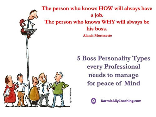 5 Boss Personality Types every Professional needs to manage for peace of Mind | The Karmic Ally Coaching Experience