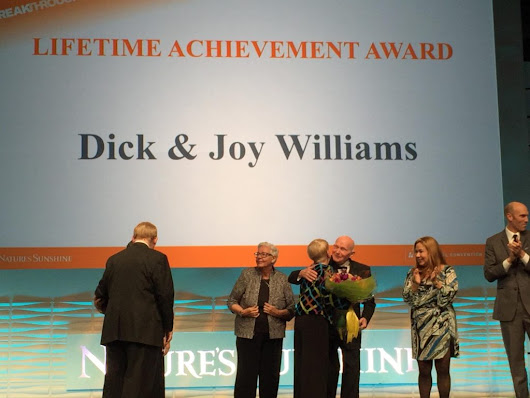 Nature's Sunshine Products Bestows Lifetime Achievement Award On Dick & Joy Williams