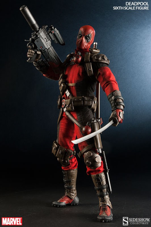 Sixth Scale Deadpool Figure with Rocket Launcher Sideshow Collectibles