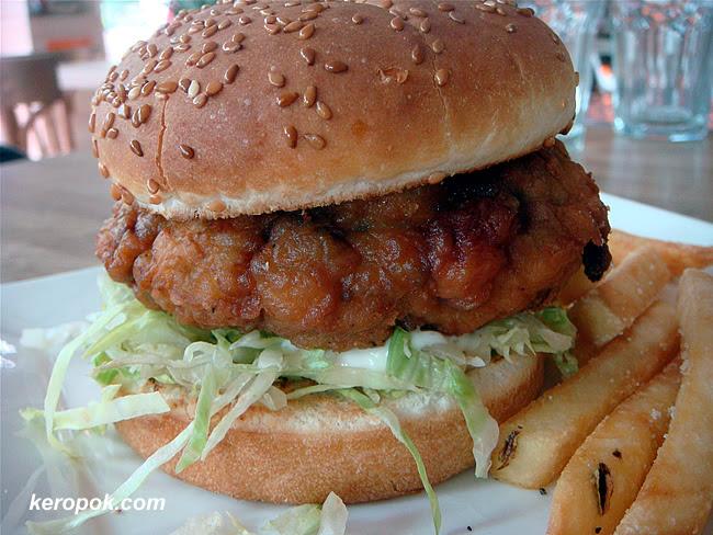 Seafood Burger with Lemon Mayo