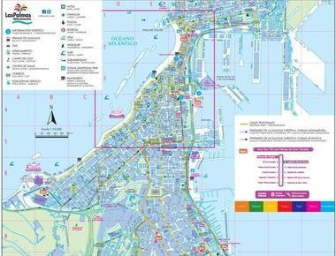 Nuevo Mapa Turístico de Las Palmas de Gran Canaria exp