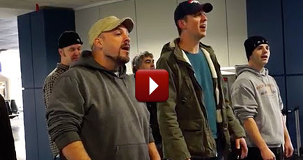 Their Flight Was Delayed - So This A Cappella Group Decided to Do Something AWESOME.