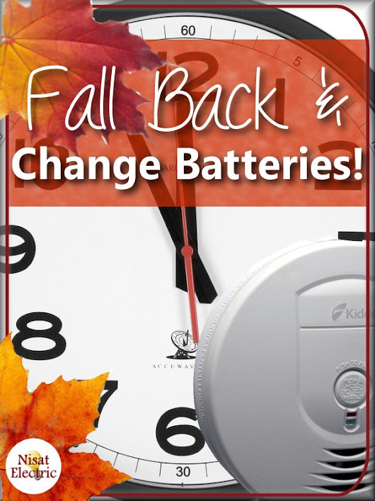 Fall Back & Replace Smoke Detector Batteries!