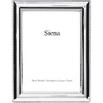 "Tizo Design Beaded Border Collection 5x7"" Frame - Silver Plated"