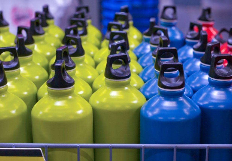 Aluminum reusable water bottle