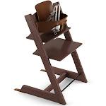 Stokke Adjustable Ergonomic 2019 Tripp Trapp High Chair & Baby Set (Walnut Brown)