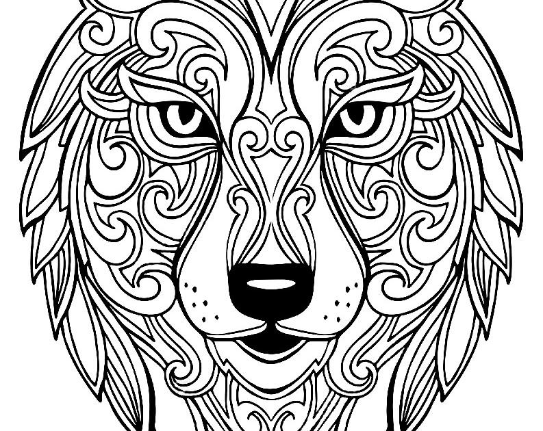 Unique Coloriage Tete De Loup A Imprimer   Haut Coloriage HD-Images et Imprimable Gratuit