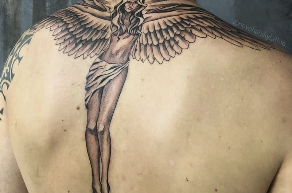 Rest In Peace Angel Wings Tattoo Meaning