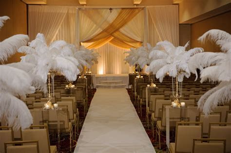 A Great Gatsby themed wedding & ceremony in the