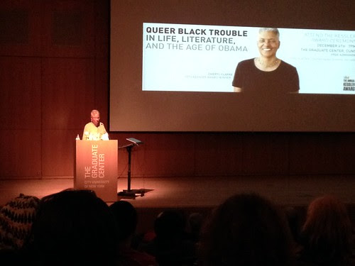 Cheryl Clarke, delivering this year's CLAGS Kessler lecture