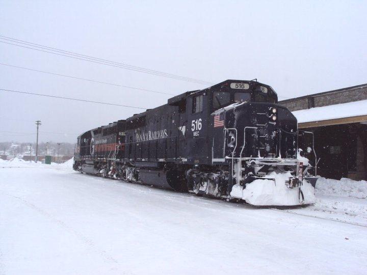 MEC 516 in McAdam, NB. Photo by Gary Lee Bowser