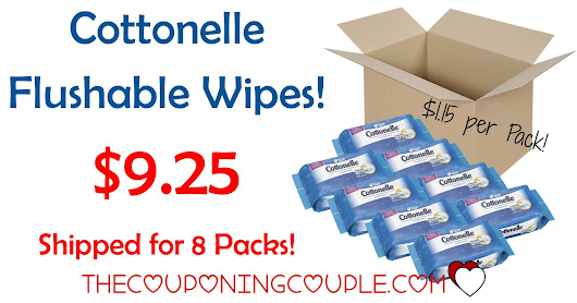 Cottonelle FreshCare Flushable Cleansing Cloths- 8 Packs of 42= $9.25 Shipped!