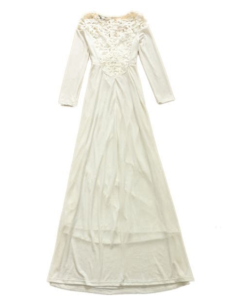 New Release White Lace Long Sleeves Maxi Wedding Dress