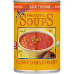 Amy's Organic Soup, Chunky Tomato Bisque, Low Sodium - 14.5 oz can