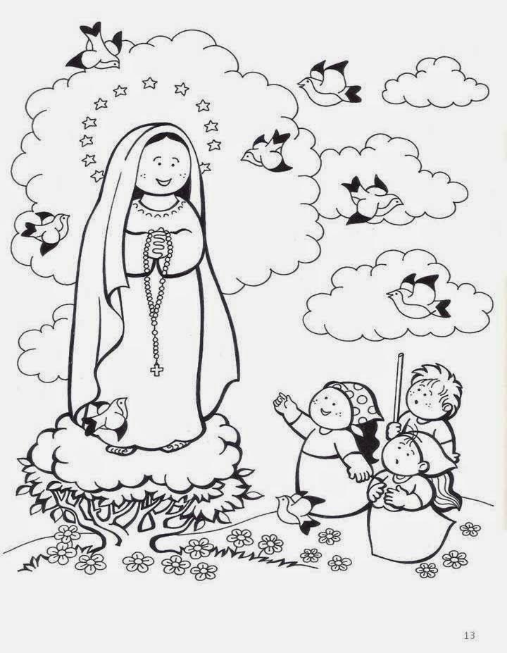 Virgen De Fatima Dibujo Para Colorear La Virgen Del Rosario