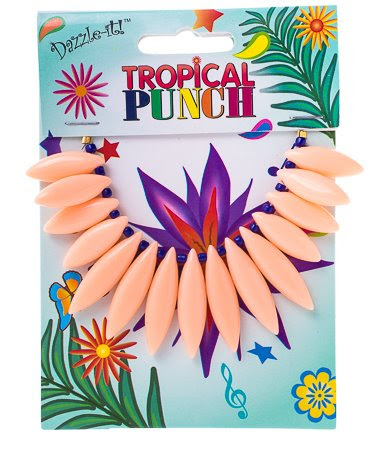 """28400691-03 Acrylic -  Tropical Punch Drops - Rose Salmon (Pack 15 pcs) - <font color=""""#FF0000"""">Discontinued</font> - 60% off!"""