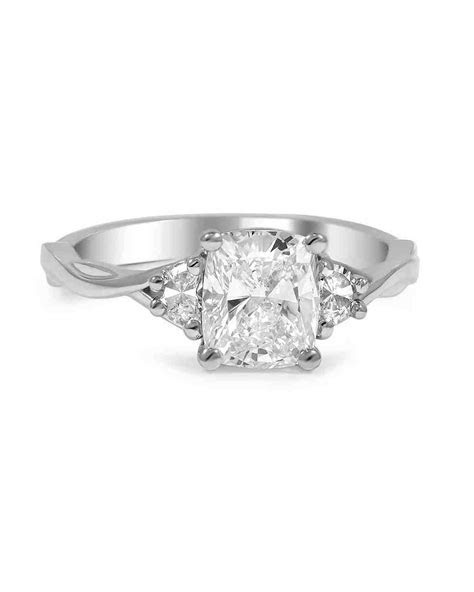 Cushion Cut Diamond Engagement Rings   Martha Stewart Weddings