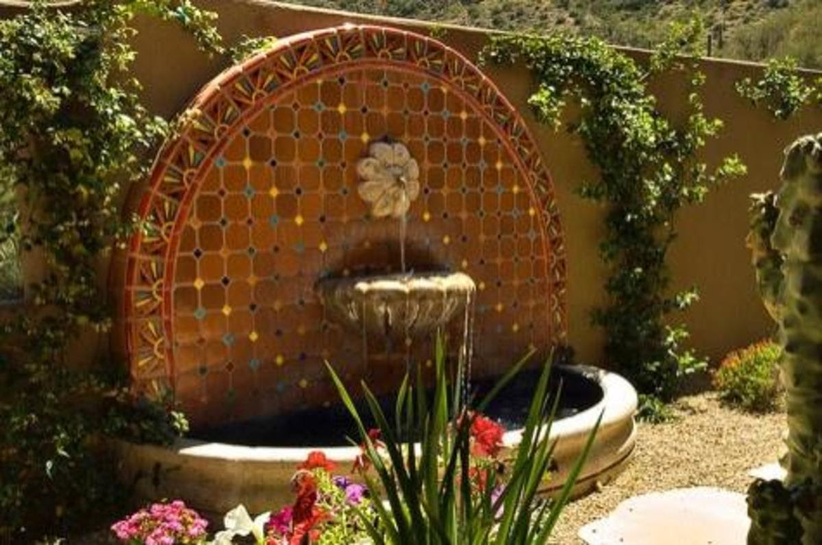 Home Improvement - Outdoor Wall Fountains with Tile ...
