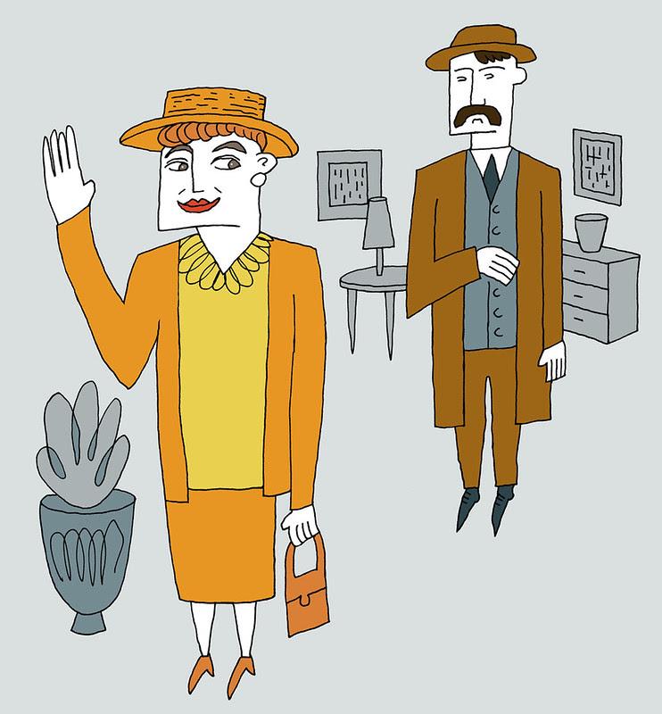 Miss Lemon and Inspector Japp