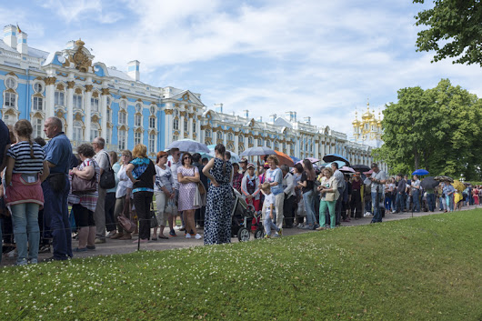 Our holiday in Saint Petersburg, we go outside the city to Tsarskoye Selo