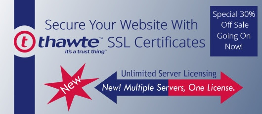 Certs 4 Less Announces Thawte SSL Certificate Unlimited Server Licensing