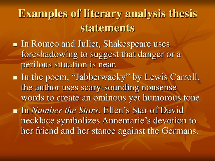what is the thesis statement of romeo and juliet