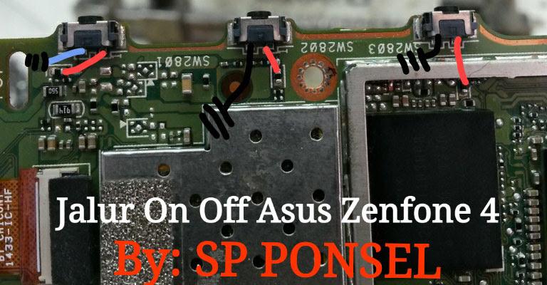 Asus Zenfone 4 ZE554KL Power Button Solution Jumper Ways