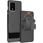 Galaxy S20 Ultra Case with Clip, Nakedcellphone [Black Tread] Kickstand Cover with [Rotating/Ratchet] Belt Hip Holster for Samsung Galaxy S20 Ultra