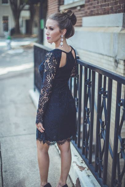 Black lace dress wedding guest
