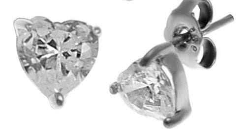 Silver 925 Studs with Heart Shaped Earrings