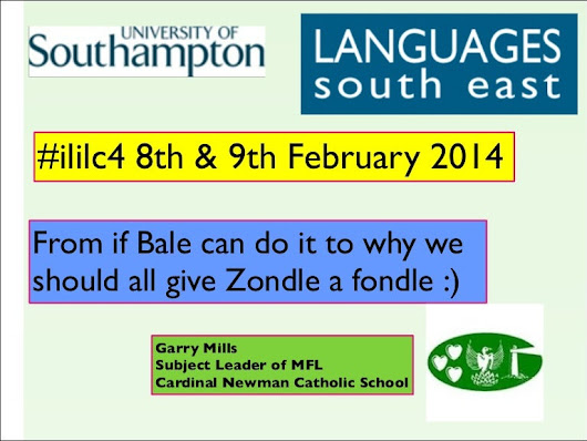 Zondle presentation for The Languages South East Conference 2014