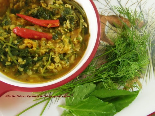 Dill & Spinach curry