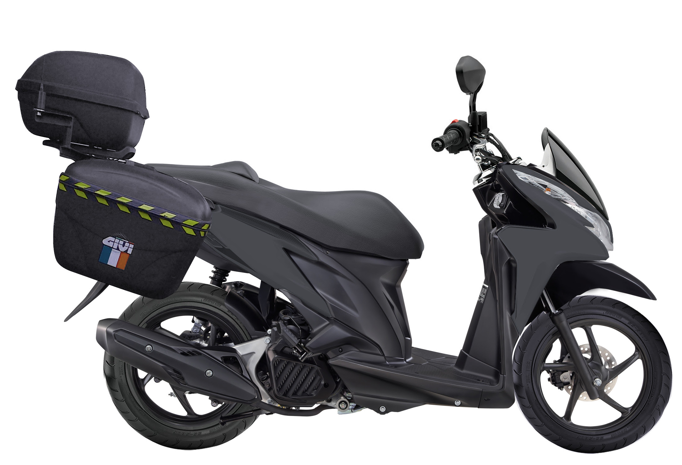 Modif Vario 125 CBS Untuk Touring Model PCX Fushion Model