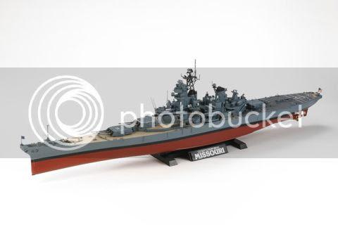 tamiya model kit - us battleship bb-63 missouri ship - 1:350