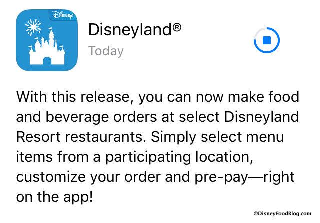 Disneyland App Update screenshot
