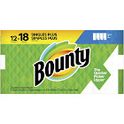 Bounty Select-A-Size Paper Towels White - 12 Singles Plus Rolls - 18 Regular Rolls, Size: 12 Giant Rolls